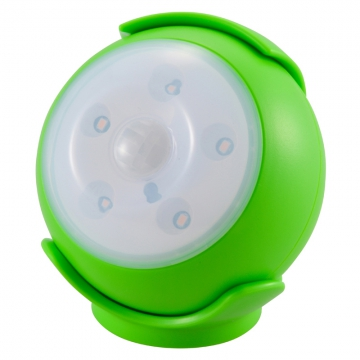 LEDセンサーライト 人感・明暗 グリーン 黄色LED [品番]06-1624
