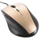 静音5ボタンマウス ゴールド/ブラック [品番]01-3758