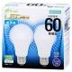 LED電球 60W相当 E26 昼光色 広配光 密閉器具対応 2個入 [品番]06-3174