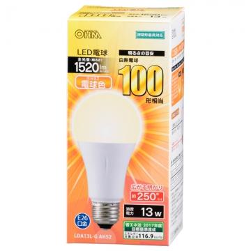 LED電球 一般電球形 100形相当 E26 電球色 [品番]06-3288