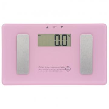 小型 体重体組成計 ピンク [品番]08-0096