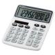 電卓 ソーラー 12桁 手帳サイズ 白 [品番]07-9955