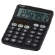 電卓 ソーラー 12桁 手帳サイズ 黒 [品番]07-9956