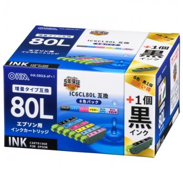 エプソン互換インク IC6CL80L [品番]01-4259