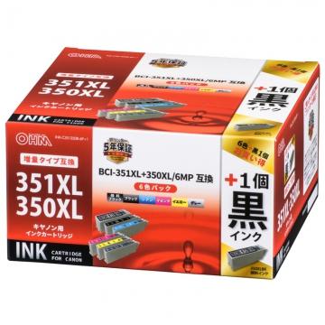 キヤノン互換 BCI-351XL+350XL/6MP 顔料ブラック2個+染料5色 [品番]01-4262