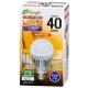 LED電球 40W相当 E26 電球色 人感センサー [品番]06-3117