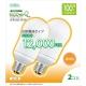 蛍光灯電球 A形 100形相当 E26  電球色 2個入 [品番]06-0287