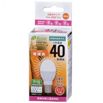 LED電球 小形 40W形相当 E17 電球色 [品番]06-3352