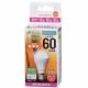 LED電球 ミニクリプトン形 60形相当 E17 電球色 広配光 [品番]06-3354