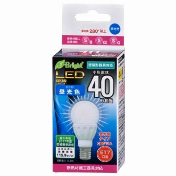 LED電球 ミニクリプトン形 40形相当 E17 昼光色 全方向 [品番]06-3359