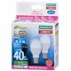 LED電球 ミニクリプトン形 40形相当 E17 昼光色 広配光 2個入 [品番]06-3391