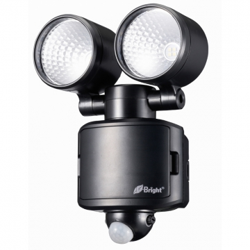 LEDセンサーライト 乾電池式 2灯 [品番]07-9918
