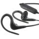 AudioComm ワイヤレスイヤホン Bluetoothステレオヘッドホン ブラック [品番]03-0370