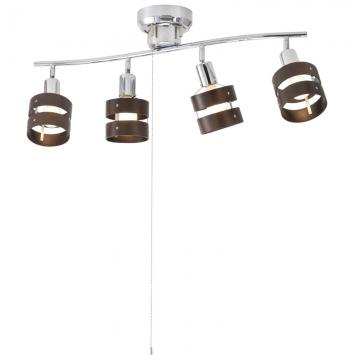 4灯シーリングライト ウッドリング 電球別売 [品番]06-1490