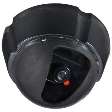ダミーカメラ UFO 防犯ステッカー付き 人感センサー点滅 [品番]07-8289