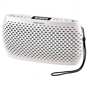 AudioComm ポータブルCD/MP3/ラジオ ホワイト [品番]07-9809