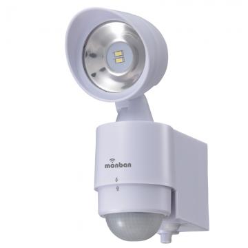 monban LEDセンサーライト 乾電池式 1灯 [品番]07-8214