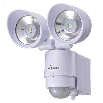 monban LEDセンサーライト 乾電池式 2灯 [品番]07-8215