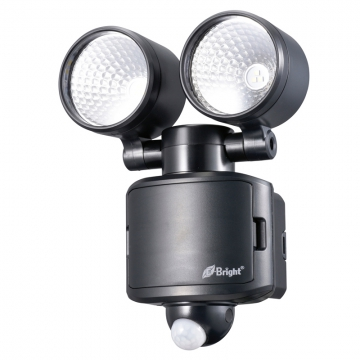 E-Bright LEDセンサーライト 乾電池式 2灯 [品番]07-8724