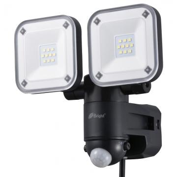 LEDセンサーライト コンセント式 2灯 [品番]07-9920