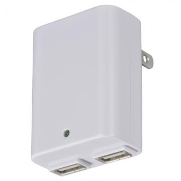 ACアダプター USB×2 2.1A[品番]01-3429