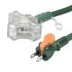 らく抜き&通電ランプ付 作業用延長コード 3個口 10m 緑 [品番]00-4361