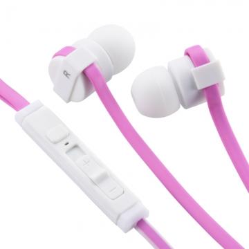 AudioComm スマートフォン専用イヤホン マイク・リモコン付 ピンク [品番]03-0378
