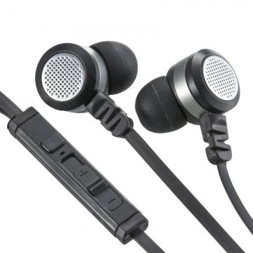 AudioComm ステレオイヤホン リモコン付 ブラック [品番]03-0388