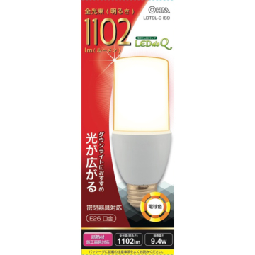 LED電球 T形 100W相当 E26 電球色 [品番]04-1200
