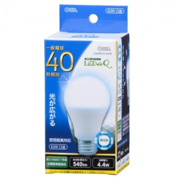 LED電球 40形相当 E26 昼光色 広配光 密閉器具対応 [品番]06-0752