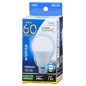 LED電球 一般電球形 60形相当 E26 昼光色 [品番]06-0754