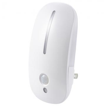 LEDナイトライト 明暗・人感センサー付 電球色 [品番]07-8839