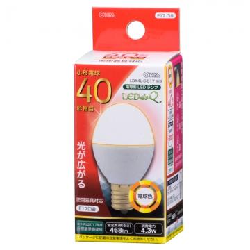 LED電球 小形 E17 40形相当 電球色 [品番]06-0763