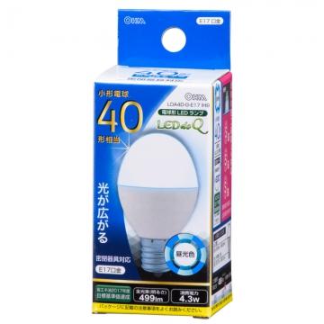 LED電球 小形 E17 40形相当 昼光色 [品番]06-0764