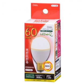 LED電球 小形 E17 60形相当 電球色 [品番]06-0765