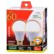 LED電球 一般電球形 60形相当 E26 電球色 2個入 [品番]06-0775