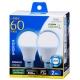 LED電球 一般電球形 60形相当 E26 昼光色 2個入 [品番]06-0776