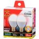 LED電球 小形 25形相当 E17 電球色 2個入 [品番]06-0777