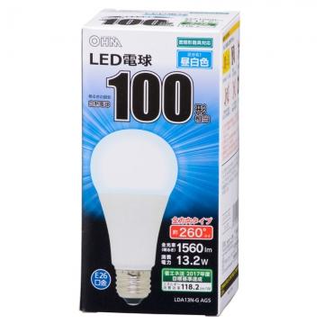 LED電球 100形相当 E26 昼白色 全方向 密閉器具対応 [品番]06-1738