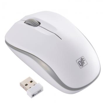 ワイヤレスマウス IR LED Mサイズ ホワイト/グレー [品番]01-3581