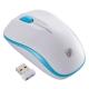 ワイヤレスマウス IR LED Mサイズ ホワイト/ブルー [品番]01-3583