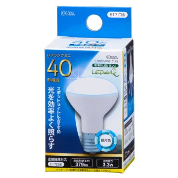 LED電球 ミニレフランプ形 40W相当 E17 昼光色 [品番]06-0768