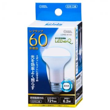 LED電球 レフランプ形 60形相当 E26 昼光色 [品番]06-0772
