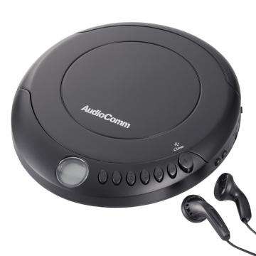 AudioComm ポータブルCDプレーヤー ブラック [品番]07-8883