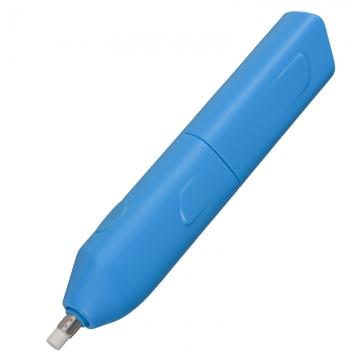 電動消しゴム 乾電池式  大 ブルー [品番]00-5657