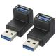 USBポート L字変換コネクター 垂直 [品番]01-3736