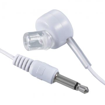片耳モノラルイヤホン φ3.5 ストレート型 ラジオ用 1m 白 [品番]03-3164