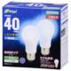 LED電球 40W形相当 E26 昼光色 全方向 密閉器具対応 2個入 [品番]06-0692