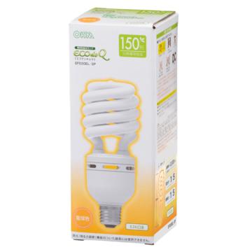 電球形蛍光灯 エコデンキュウ スパイラル形 E26 150形相当 電球色 [品番]04-1494