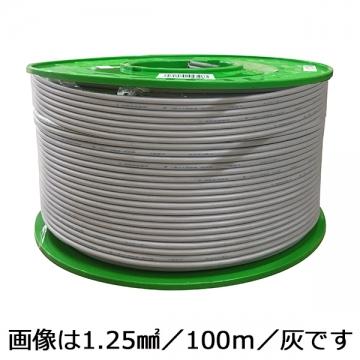 ビニール平行線 1.25mm2 黒 100m [品番]04-2326